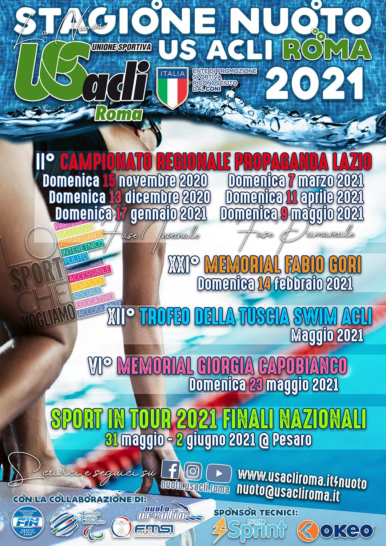Calendario Nuoto US Acli Roma 2021